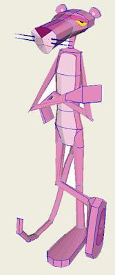 Pink Panther Papercraft