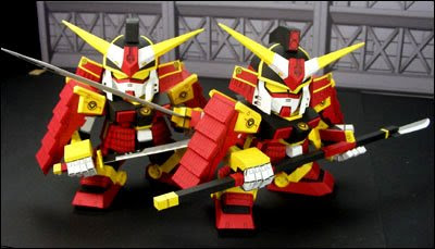 Gundam Papercraft - SD Musha  Samurai