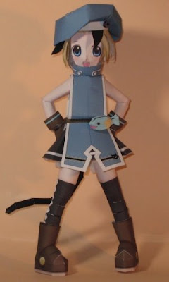 Anime Papercraft - Cafetera Catgirl