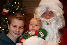 The kids with Santa Claus
