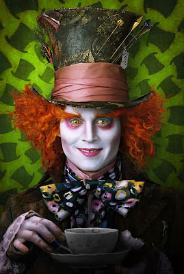 Johnny Depp in the upcoming movie Alice In Wonderland