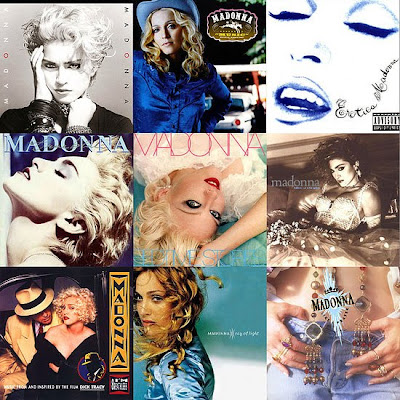 Madonna in all her album covers
