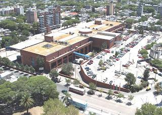 Vista aérea de la Terminal Tres Cruces de Montevideo