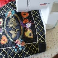 Machine embroidery by Wanda Roszak