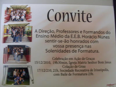 Convite Do Ensino Fundamental