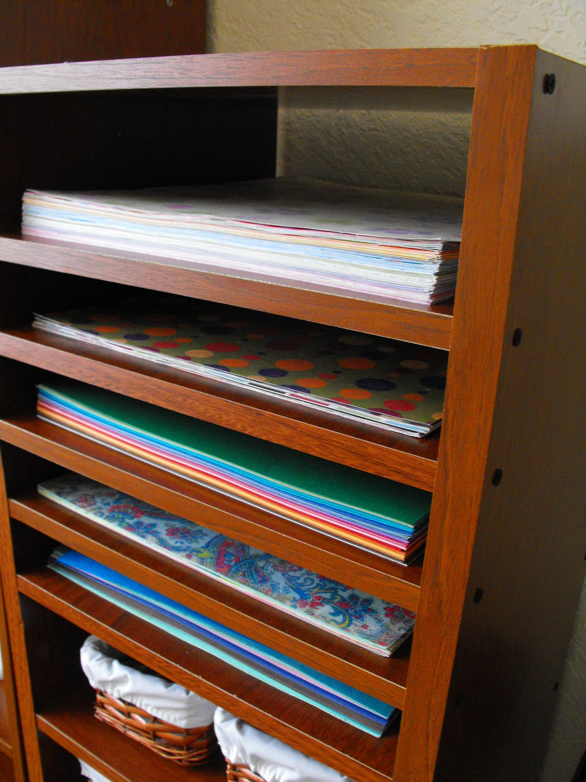 Mueble organizador caroli schulz scrapbooking - Papeles pintados para muebles ...