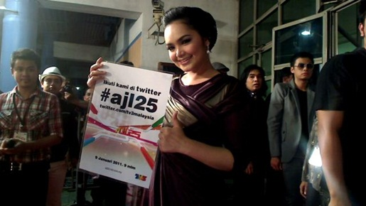 Sekitar Gambar Artis Di Red Carpet AJL25(Anugerah Juara Lagu 25)