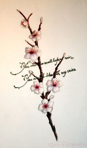 Cherry blossom tattoos are mostly seen as a very feminine design.