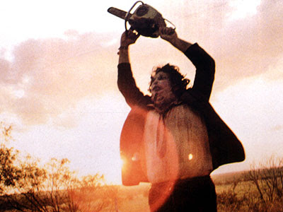 psycho chainsaw killer Leatherface from The Texas Chainsaw Massacre