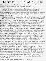 L'IPOTESI DI PIERO CALAMANDREI