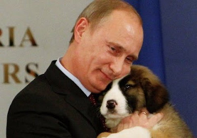 Vladimir Putin Cuddles With A Puppy Seen On  www.coolpicturegallery.us