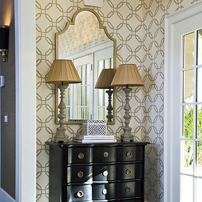 Barrie briggs spang an argument for wallpaper part 1 the for Foyer decorating ideas small space
