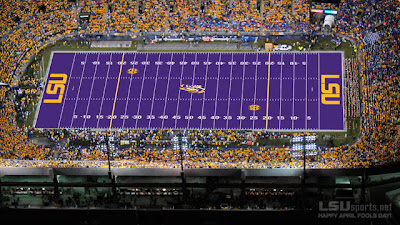 LSU's purple field