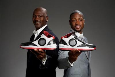 Dwyane Wade and Michael Jordan