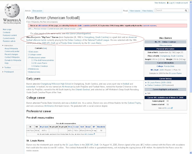 Alex Barron's Wikipedia page