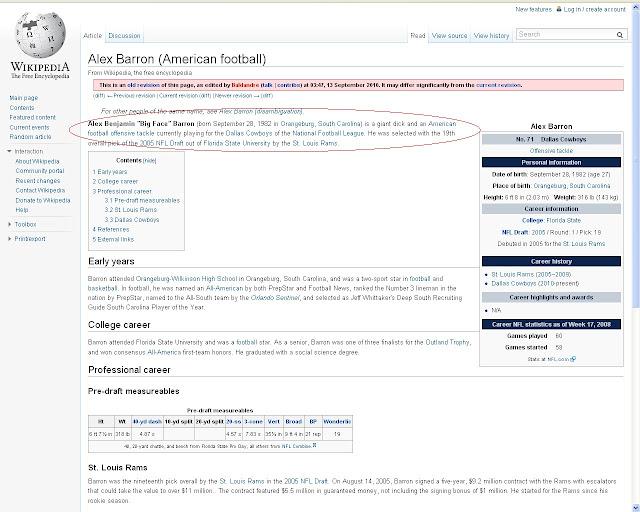Alex Barron's Wikipedia page