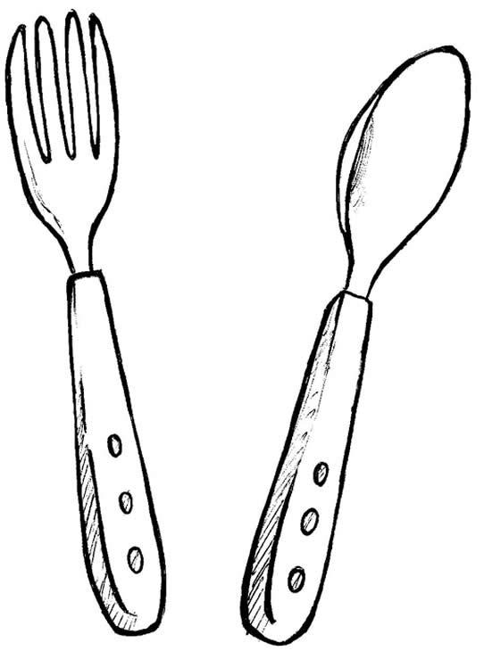 Risco de talheres para panos de prato. Desenhos diversos colorir ...