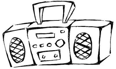 desenho de rádio para colorir radio antigo