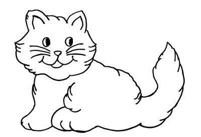 Gato para pintar mais desenho legal de animais para colorir e imprimir