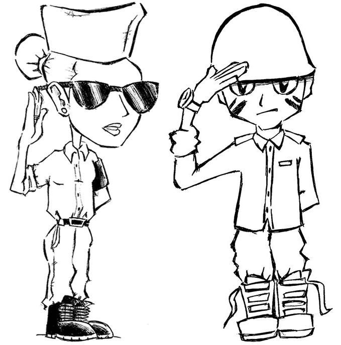 desenho soldados colorir e pintar desenhos para colorir