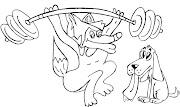 Animais para colorir, desenhos infantil para pintar de lobo e cachorro