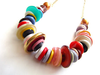 Retro Button Necklace