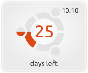 Ubuntu Linux countdown button for website and blog
