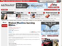 Malawi Muslims burning Bibles