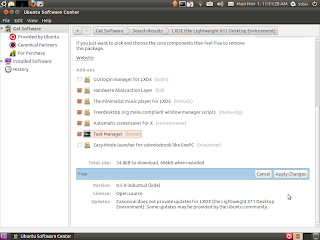 install lxde task manager later from ubuntu