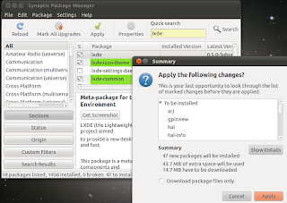 lxde available on ubuntu synaptic package manager