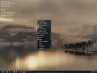 antiX operating system desktop