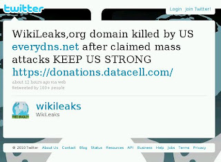 WikiLeaks,org domain killed by US everydns.net