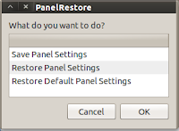 Restore default panels on ubuntu