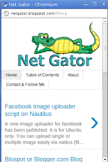 My 'NetGator' blog on mobile view
