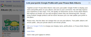 Link public Google Profile with Picasa Web Albums