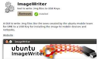image writer tool in ubuntu software center
