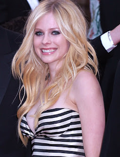 Avril Lavigne Long Blonde Hairstyles