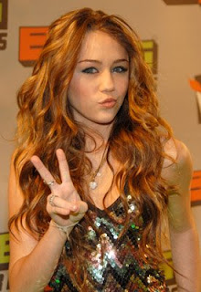 Miley Cyrus Long wavy Celebrity Hairstyles