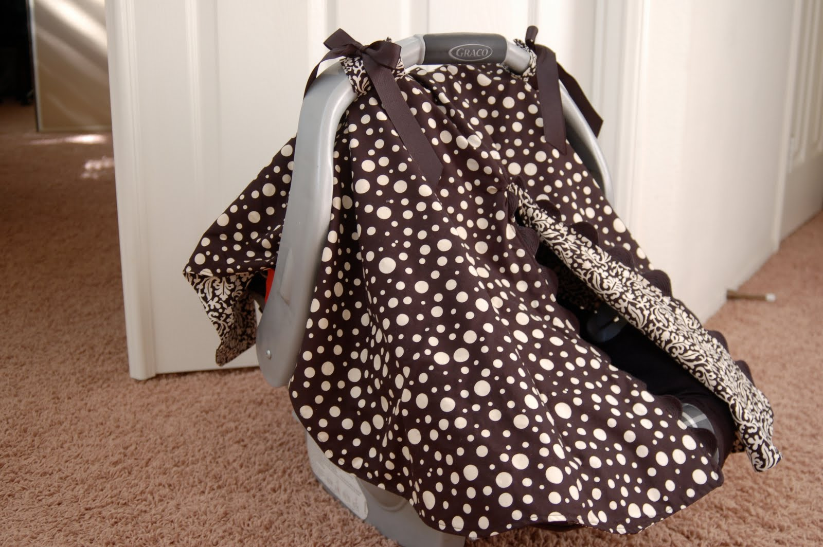 How To Make A Car Seat Canopy With Front Opening