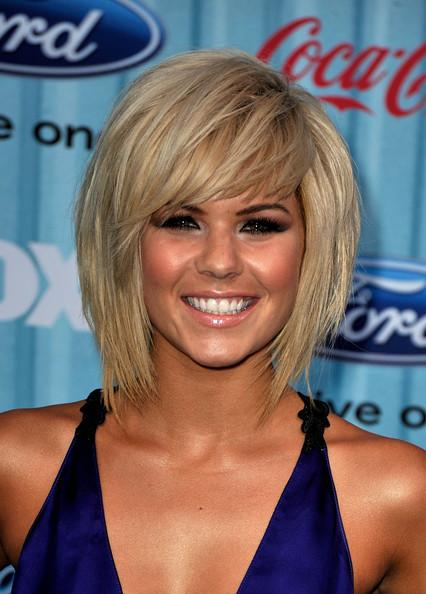 Best 2010 Modern Medium Layered Hairstyle With Fringe long hairstyles
