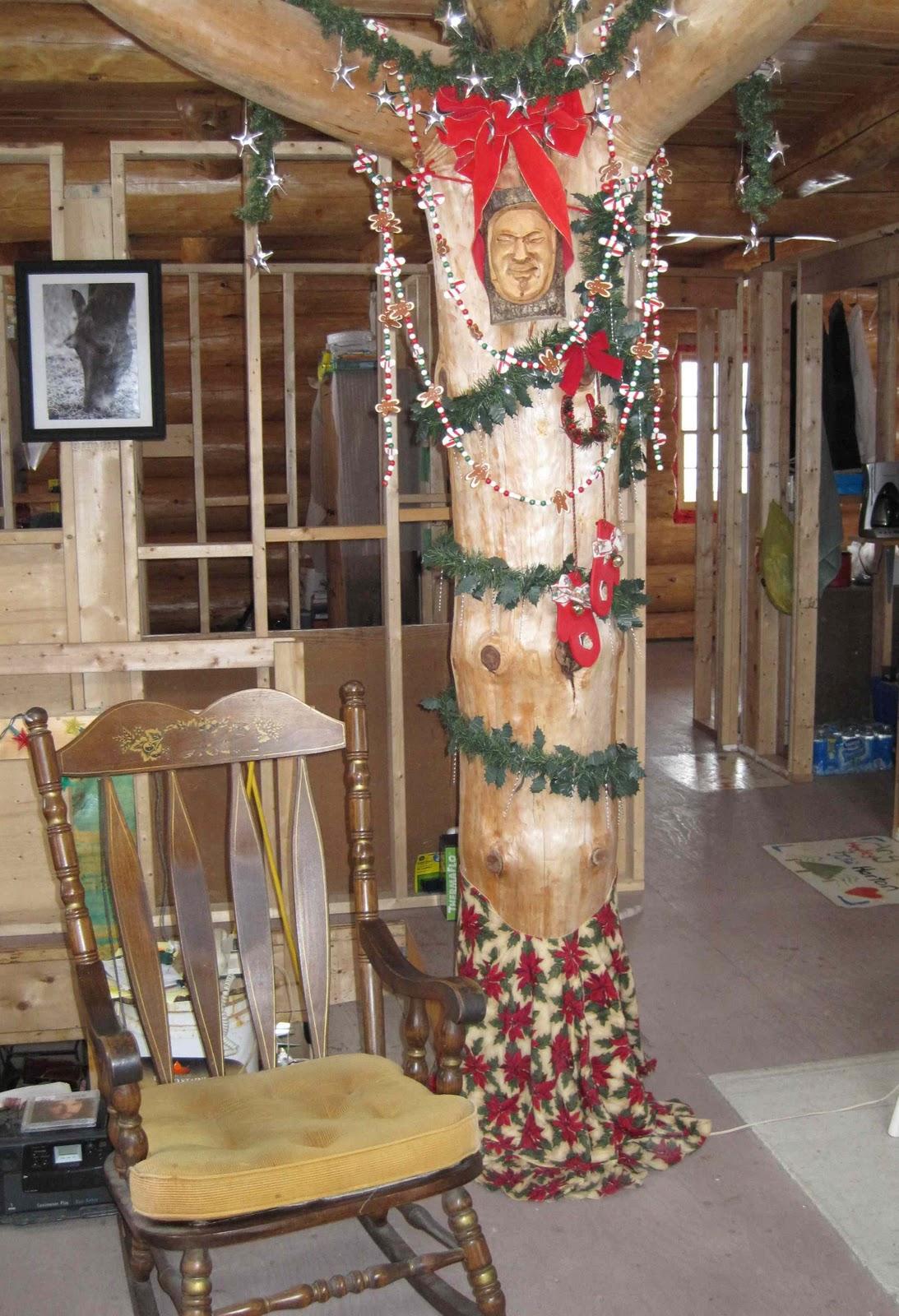 log house progress angara at blind river preparation
