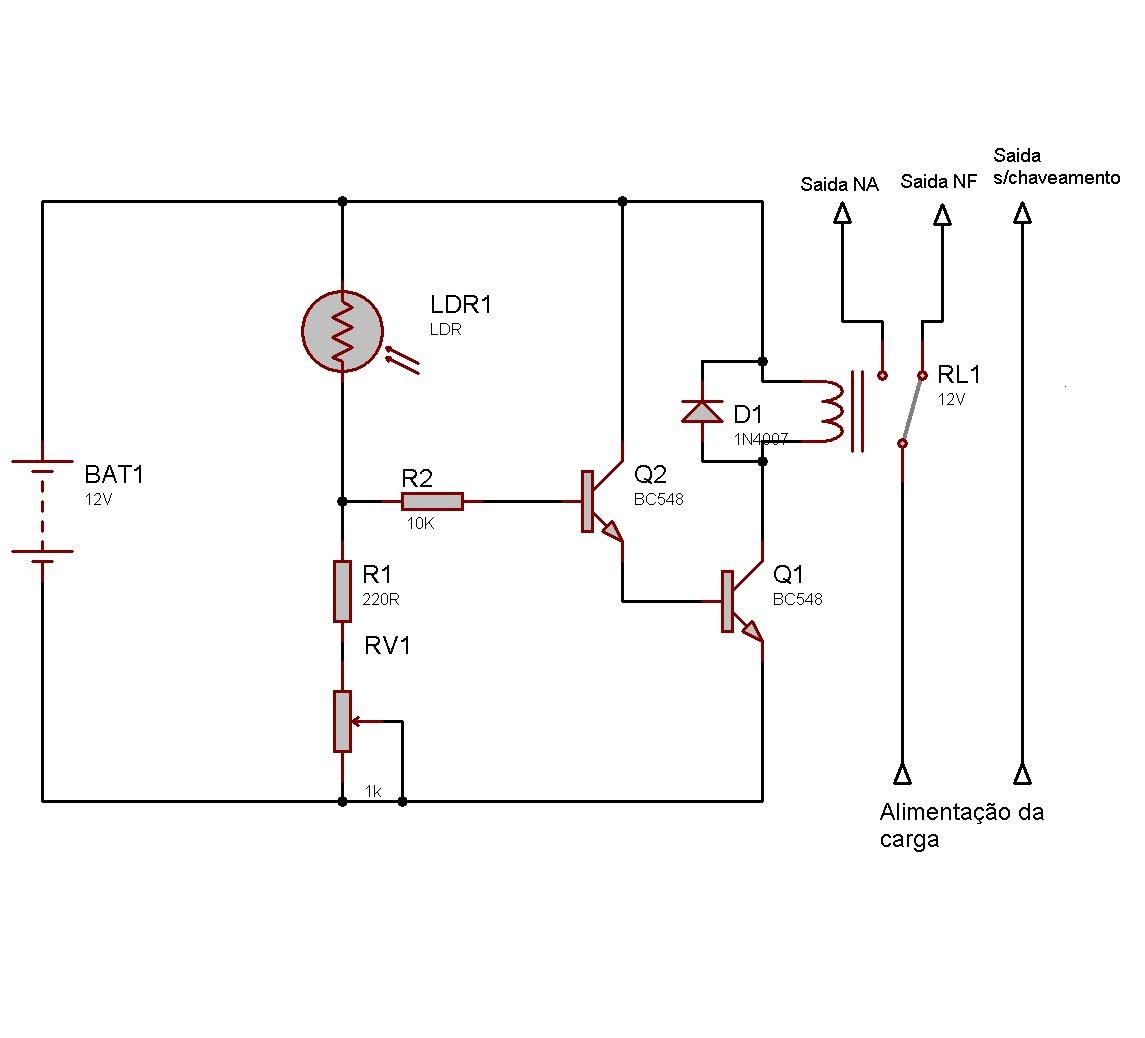 Circuito Ldr : Eletronica erlich ldr e suas utilidades
