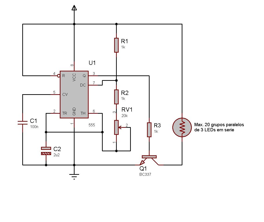Circuito Led : Eletronica erlich: strobo flash de leds