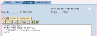 Código ABAP campo adicional