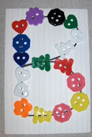 trace a letter with buttons