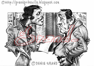 Caricatures et Portraits PatrickDewaere&LinoVentura-by-Grand