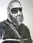 fierce bearded man