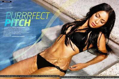 Nicole Scherzinger In Men's Fitness Magazine