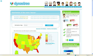 GeneaMusings Dynastrees US Surname Distribution Maps