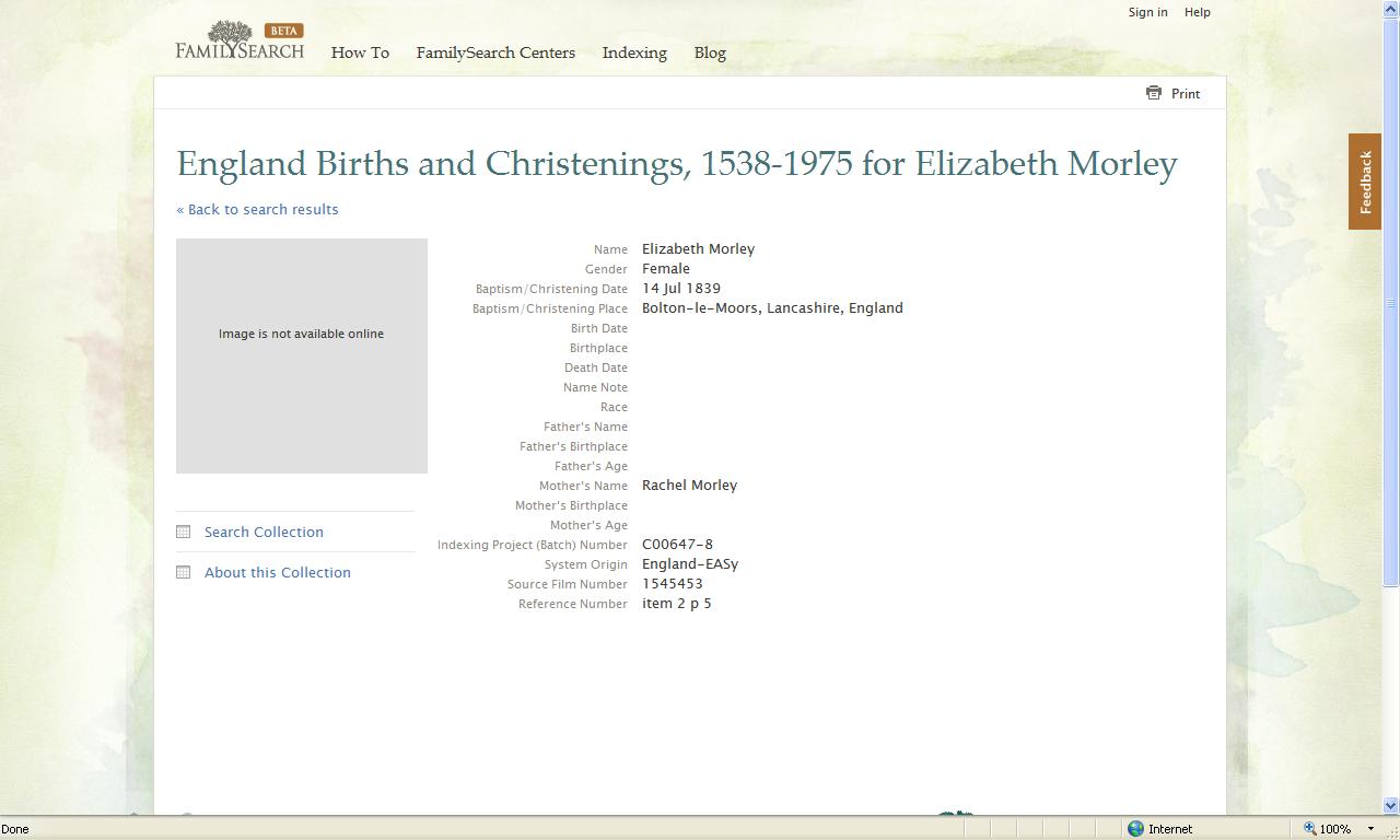 Pennsylvania birth records